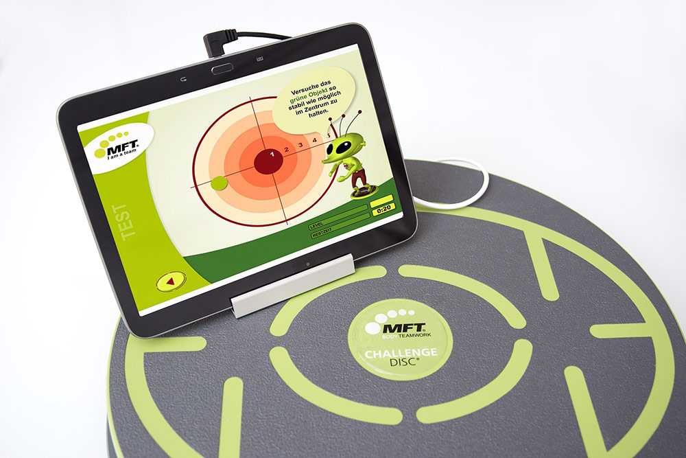 MFT Challenge Disc - Koordinationstraining mit dem Tablet