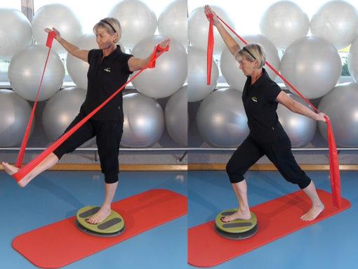 MFT Fit Disc Übungen: Einbeinstand und Ausfallschritt