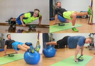 ÖSV Slalom-Athleten beim Training mit der MFT Core Disc