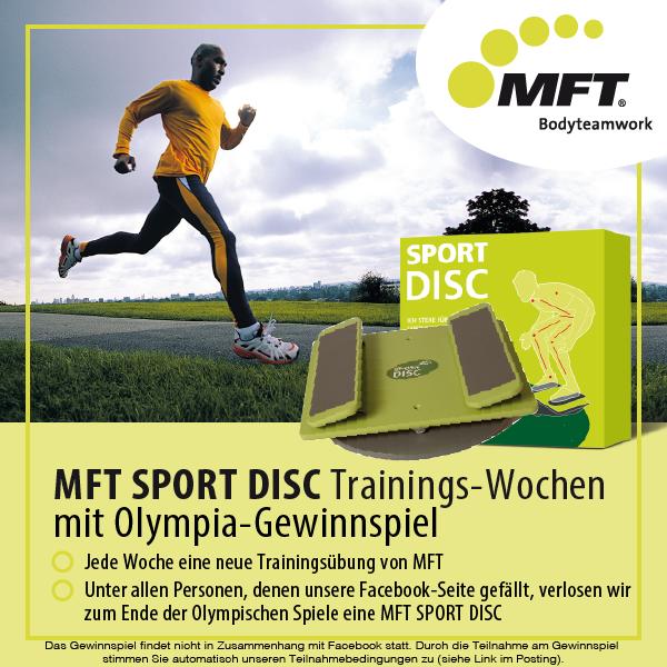 MFT Sport Disc Trainingsübungen und Gewinnspiel zu den Olympischen Spielen 2016 in Rio